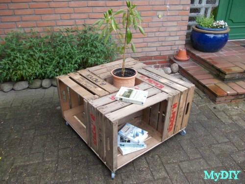 Repurposed Crates Table
